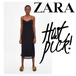 🍸HP🍸Long strappy lace dress from Zara